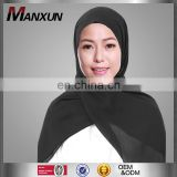 2017 High Quality Muslim Hijab Simple Style Islamic Plain Scarf Stylish Chiffon Hijab Scraf Online