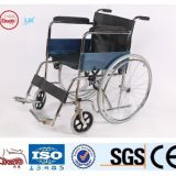 health equipment folding chrome plate wheelchair from China
