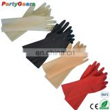 Hot Selling Factory Price Safety Adult 3D Moulded Fetish Wear Transparent Red Black Latex Catsuit Rubber Gloves
