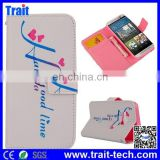 China Price Wallet Pattern Flip Cover Case for HTC One M9 with Card Slots