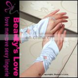 Beauty`s Love Sexy Satin Gloves Wedding Accessory Gloves Without Fingure