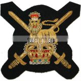 Crests and Badges Hand Embroidered Bullion Wire Blazer, Premium Quality