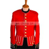 Red and White Pipe Band Uniforms, Men Marching Band Uniform, MARCHING BAND UNIFORM MADE OF 100% POLYESTER, Premium Quality