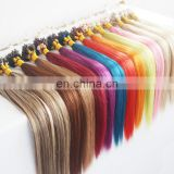 Micro Loops Ring Hair Extensions Wholesale 100% Unprocessed Virgin Brazilian Fusion Keratin Human Hair blonde
