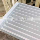 Rectangle food aluminum ribbed tray for freeze dried soup meal