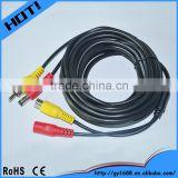 RCA DC Power Audio Video AV Extension Cable for CCTV Security camera