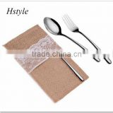 Cutlery Pockets Place card holders Favour Bags Burlap & Lace SPT128
