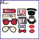 Popular Glasses Photo Booth Props For Wedding Decoration PFB0011