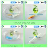 CE, ISO approved Micro IV Set with burette with latex bulb injection site