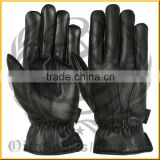Ladies winter cycling leather gloves with cashmere lining