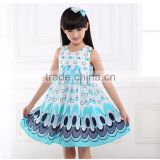 new summer skirts in big girls dress sleeveless Peacock Princess Skirt Dress Chiffon Dress