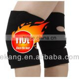 Self-heating massage knee pad