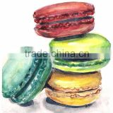 Best Kitchen And Dinning Room Decoration Oil Painting Handmade Macaron Oil Painting For Coffee Bar And Pub Wall Decor Paintings