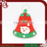 Merry Christmas Tree Art Cute Home Decoration Felt Jingle Bell Santa Claus Bunting Sale New Year
