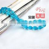 Jewelry Faceted straight hole waterdrop crystal glass beads!! Loose strands crystal glass faceted beads for jewelry decorations!