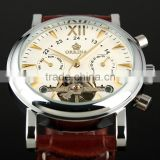 Tourbillon Automatic Leather Watch WM307