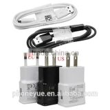 high quality original 5v 2a wall usb charger with cable set for samsung
