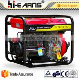 open frame air-cooled 6KW pull start diesel generator without fuel