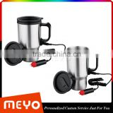 Stainless Steel Travel Heated Thermos Coffee Mug Cup With Car Charger                                                                         Quality Choice