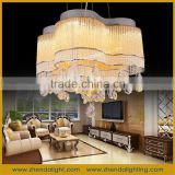 led indoor chain flower remote control church chandeliers