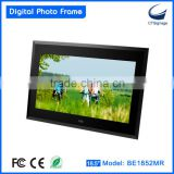 18.5 inch digital acrylic photo frame BE1851MR-FD support photo/ music/video playback, OEM ODM for mass production