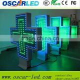 p10 p16 p20 aluminum green color 3d led pharmacy cross sign/aliexpress cross led display cabinet led cross display cabinet