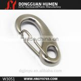 Stainless steel spring carabiner, metal snap hook for backpack,stainless steel spring gate snap hook