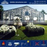 Heavy duty aluminum alloy frame pvc tensile aluminium glass wedding tent membrane structure architecture with wood floor