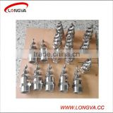 stainless steel full cone water jet sprial spray nozzle