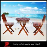 Cheap Outdoor Wooden Furniture Folding Two Seater Table and Chair Set                                                                         Quality Choice