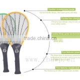 Yiwu mosquito racket manufactory beautiful designed TB-8006 rechargeable mosquito-hitting swatter