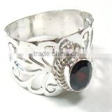 Indian Garnet Gemstone Ring gemstone antique sterling silver 925 jewelry Handmade jewelry