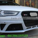 A4 body kits to RS4 body kits fit for AD A4 to RS4 style PP material front bumper, and grille