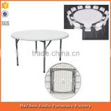5ft cheap modern plastic banquet folding round table folding dining table                                                                         Quality Choice