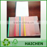 transparent plastic PP L shaped soft cover file folder