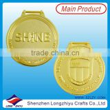 Shiny gold replica 2D metal medallion coin dealers coins medal manufacturer in Shenzhen China