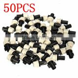 New 50PCS Plastic Misting Nozzle Sprinkler Greenhouse Flower Plant Sprinkler Nozzles Tee For Plant Flower Cooling System