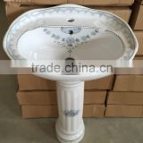 20/22 inch ceramic decorative standing wash basin with pedest                                                                         Quality Choice