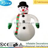 DJ-142 8ft cheap black hat large smile snowman christmas party decoration inflatable funny