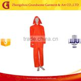 Mesh Lining Adult PVC Rainsuit, Red Raincoat