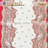 Wholesale Bulk High Quality Nylon/Spandex Stretch Lace Trim T9002