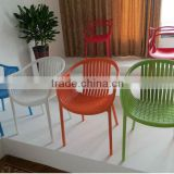 Wholesale Home Furniture elegant fancy colorful Garden chair Plastic dining chair No 1556