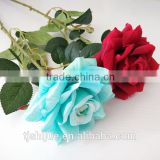 Cheap Artificial Silk Long Stem Red Roses