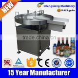 CE Certifiacte glass bottle unscrambler machine,bottle collect turntable
