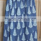 Womens Gypsy Cotton Long Skirt Dress Indian,100% cotton Indigo blue Colour Long Skirt