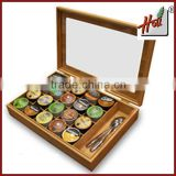 Hotel bamboo K-cup coffee capsule holder drawer design HCRC20KG                                                                         Quality Choice