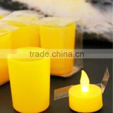 flameless battery operated led plastic tea light candle light christmas vners wedding decoration