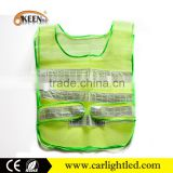 Wholesale reflex fabric warning traffic satety reflective running vest cloth with CE and ROHS