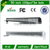 "Cree 20''30''40''50'' aluminum housing PC lens cover 180w 30"" led light bar"