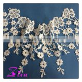 Decorative water soluble /guipure chemical crochet cord lace trim/milk silk flower trim lace for                                                                                                         Supplier's Choice